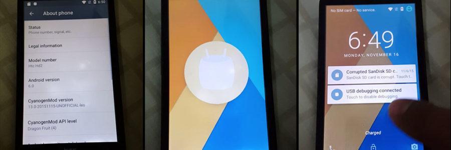 HTC HD2 sa Android 6.0 Marshmallow