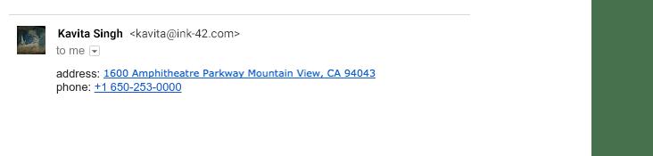 adresa u mejlu