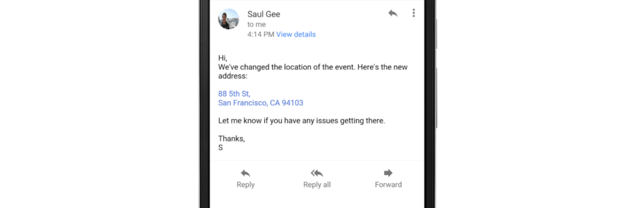 Gmail i Inbox za Android sada konvertuju adrese i brojeve telefona u mejlu i klikabilni link