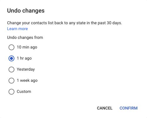 google kontakti vraćanje